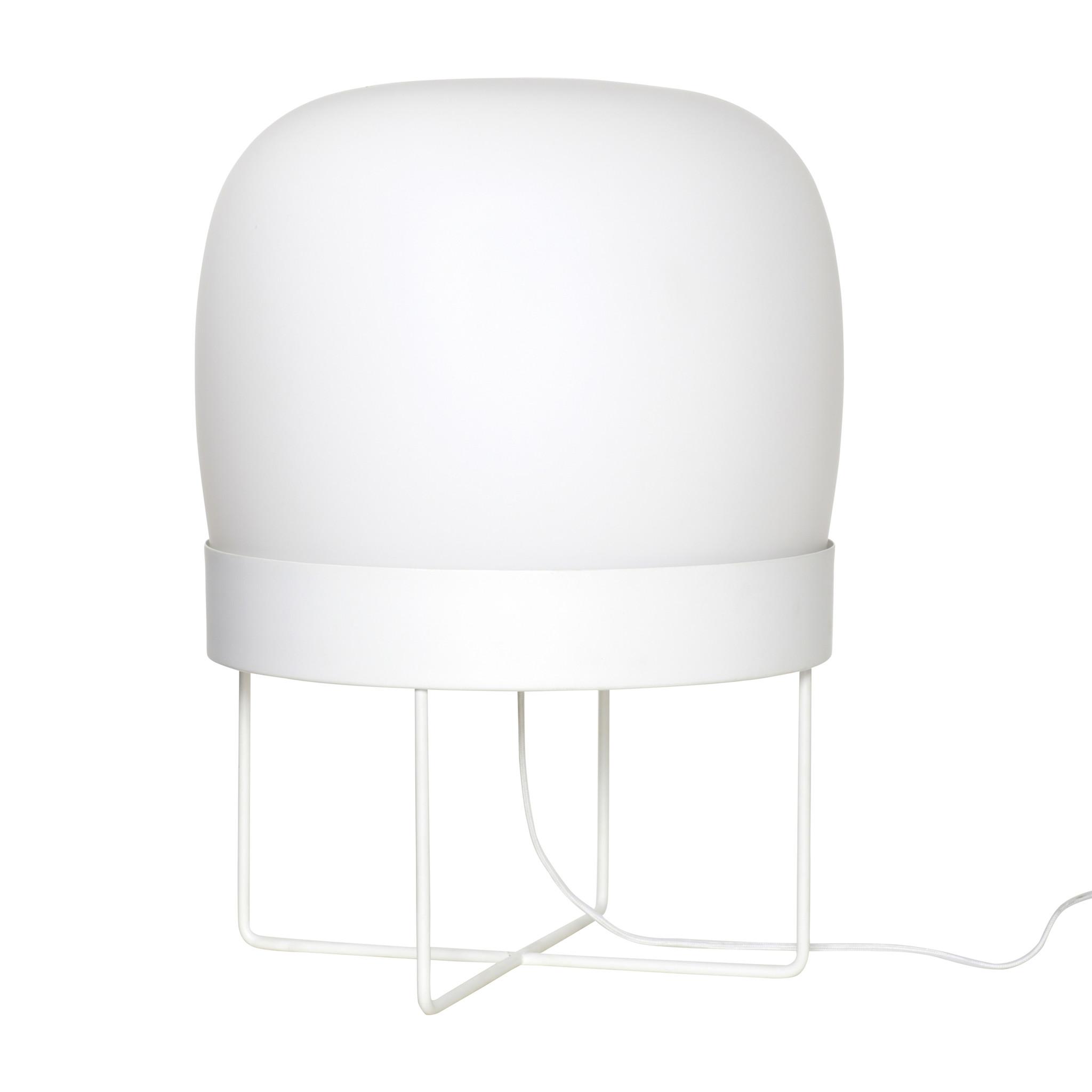 Hubsch Staande lamp, metaal / glas, wit