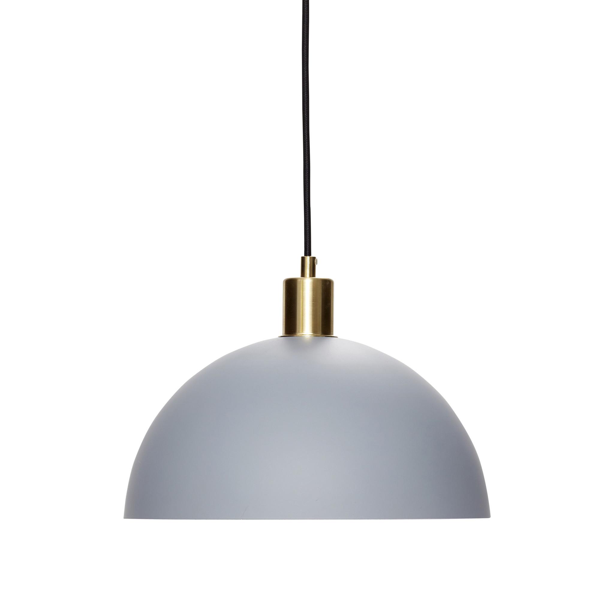 Hubsch Hanglamp, messing / grijs