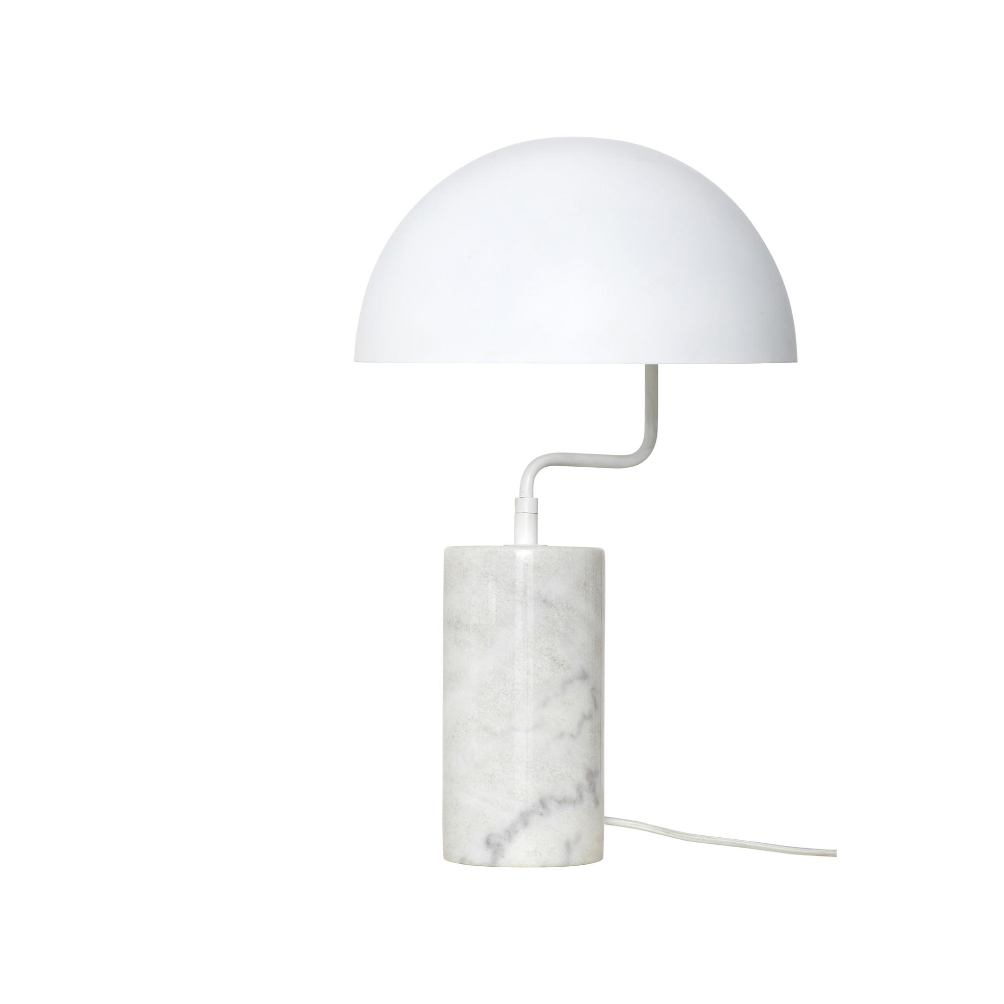 Hubsch Tafellamp, wit, metaal / marmer-990719-5712772067314