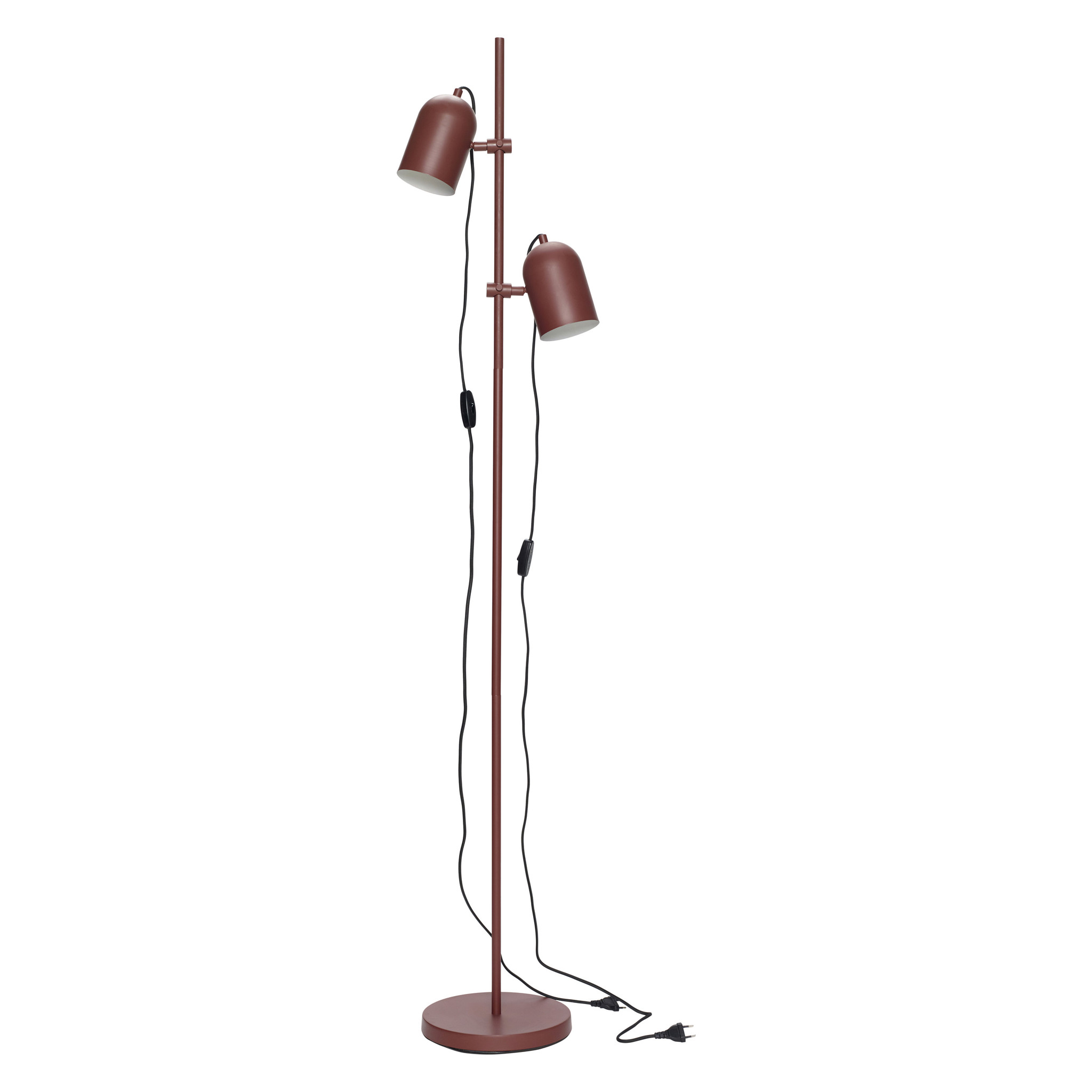 Hubsch Staande lamp, rood, metaal-990801-5712772068830