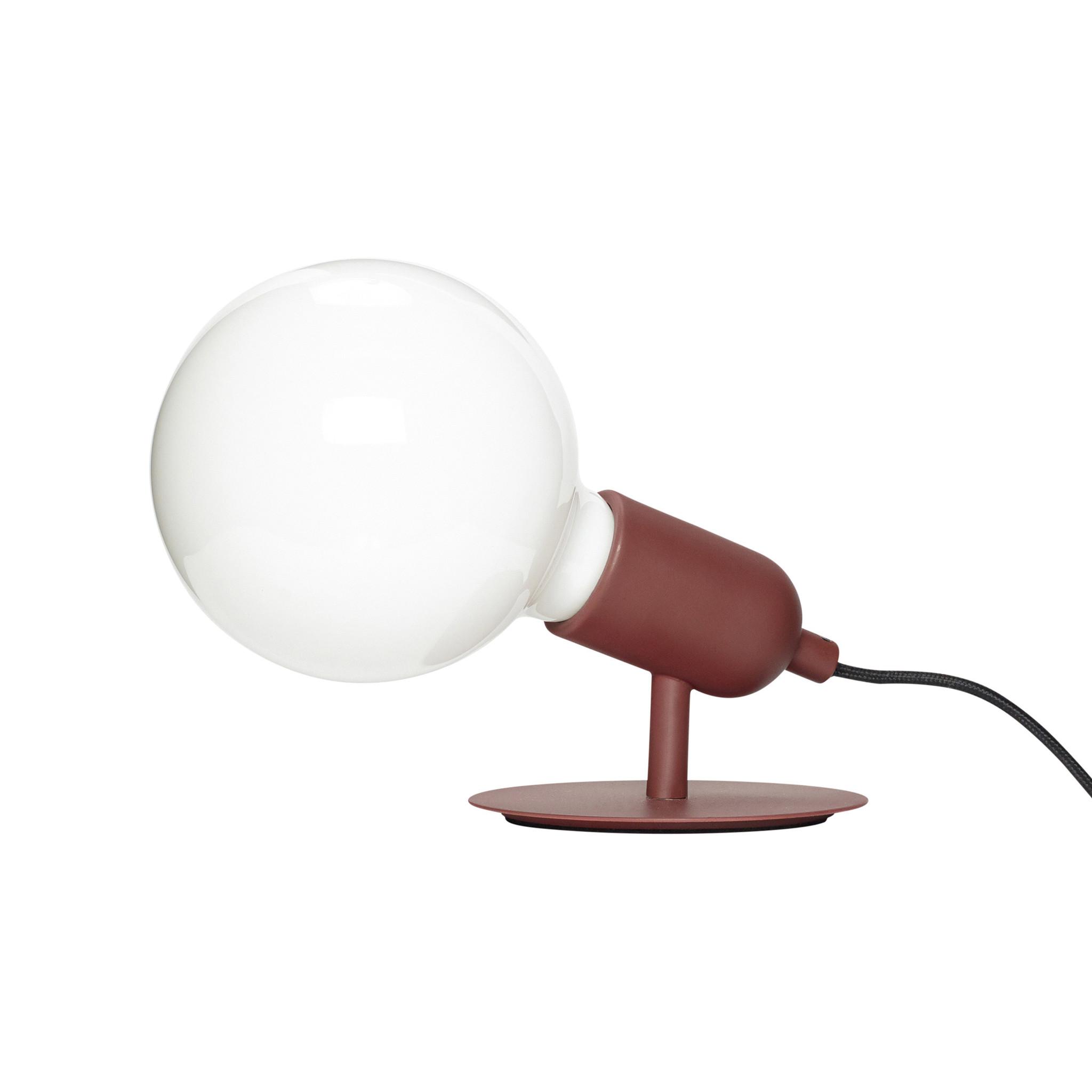 Hubsch Tafellamp met lamp, metaal, rood-990807-5712772068892
