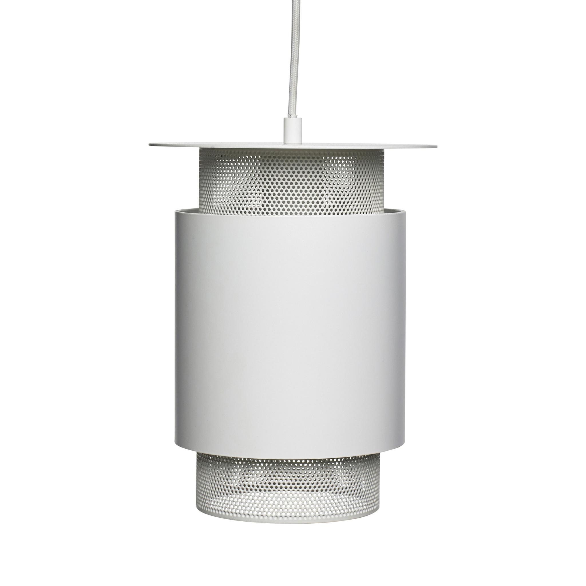 Hubsch Lamp, metaal / gaas, wit
