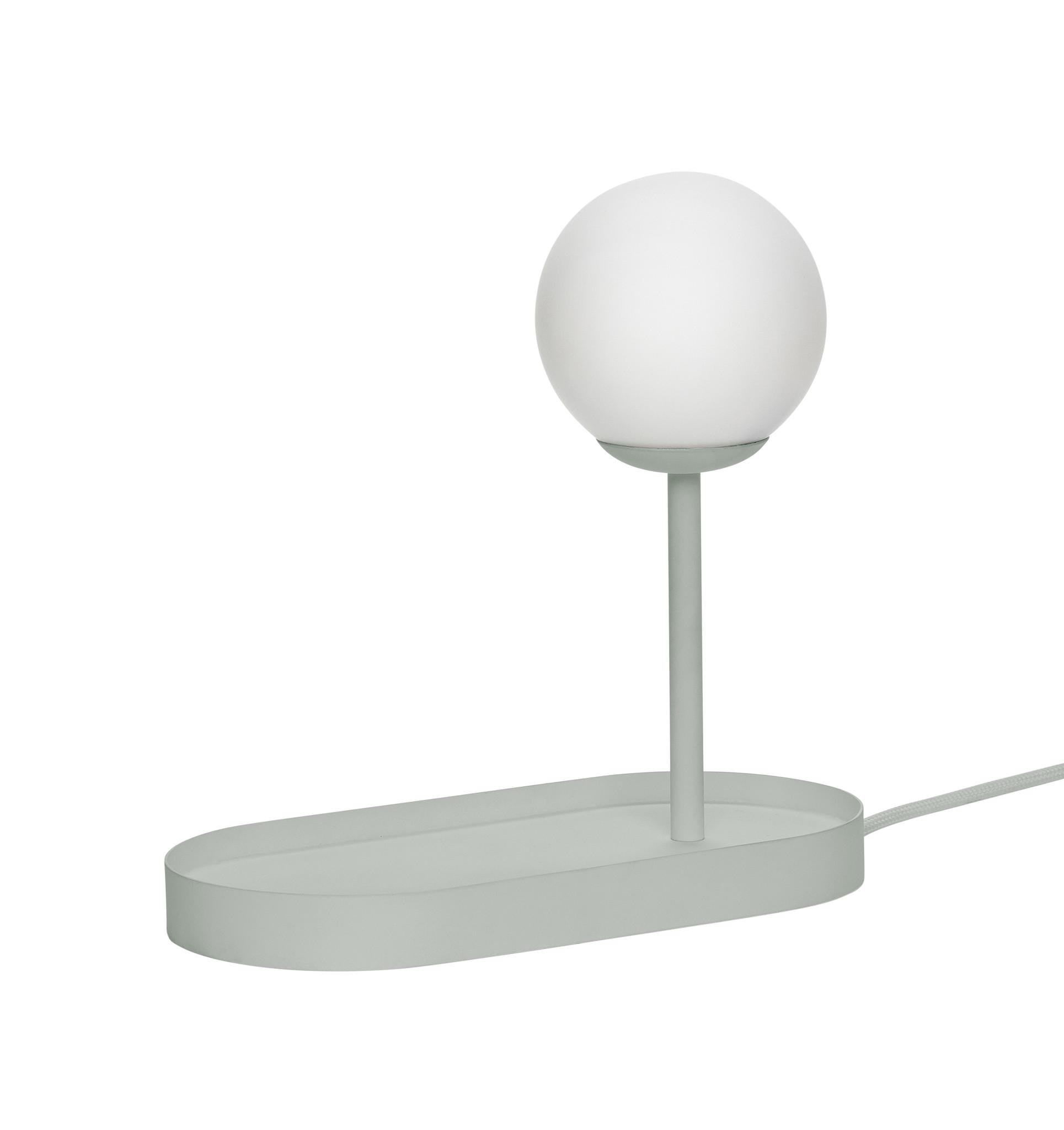 Hubsch Tafellamp met lamp, grijs