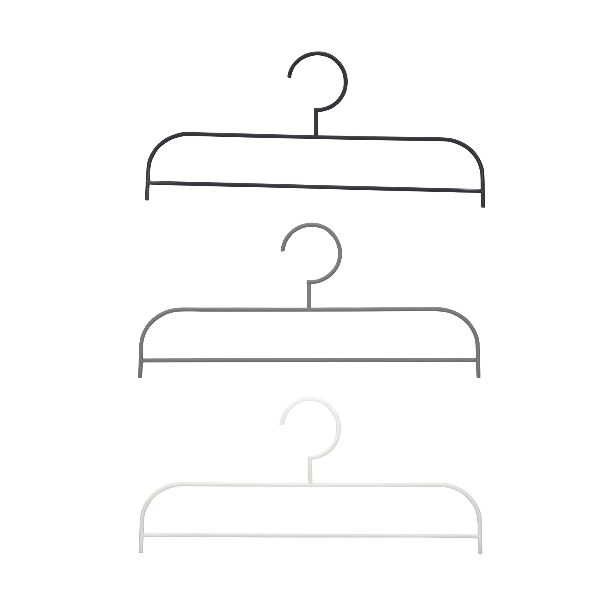Hubsch Hanger, metaal, zwart / grijset van wit, set van 3