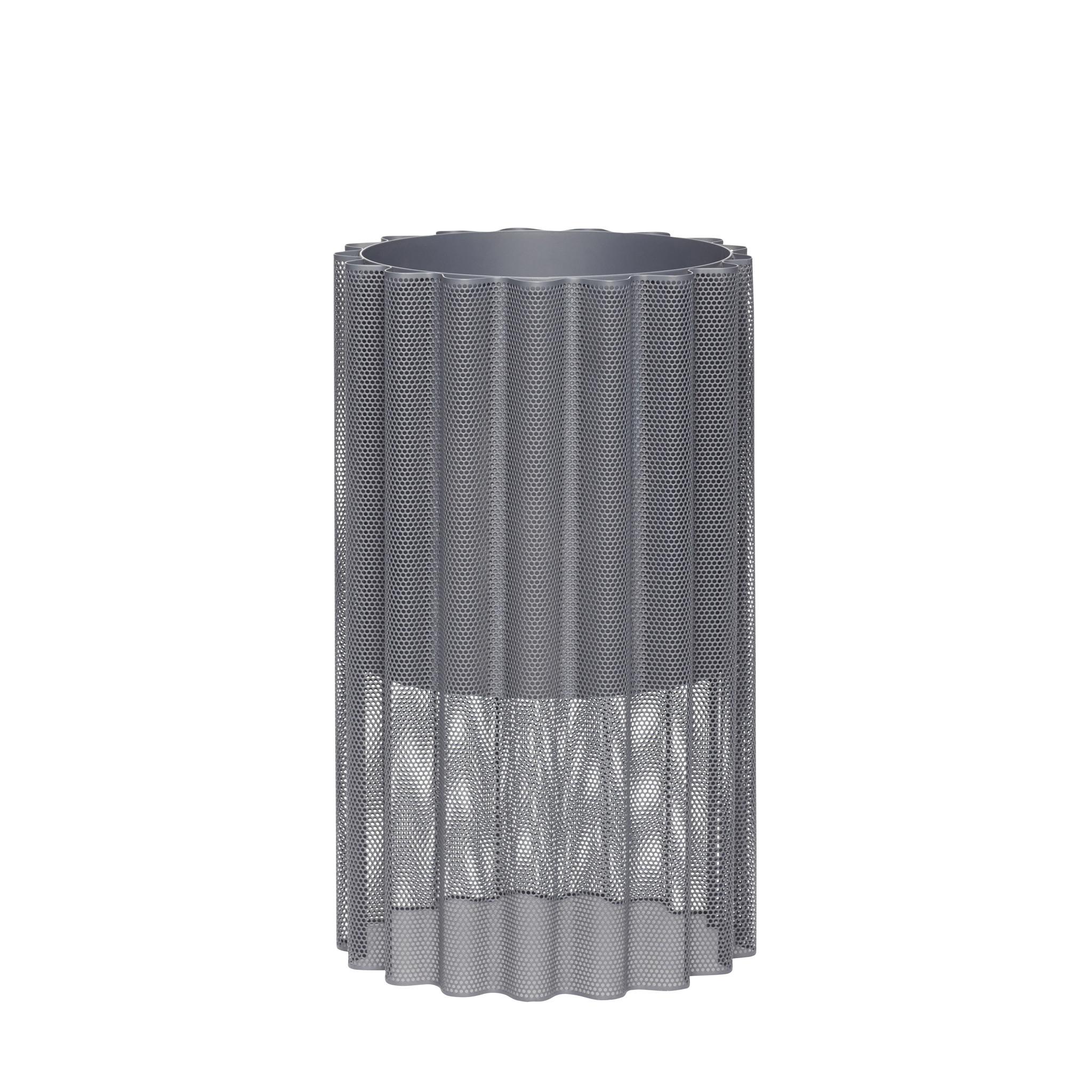 Hubsch Pot met poot, metaal, grijs-990904-5712772071090