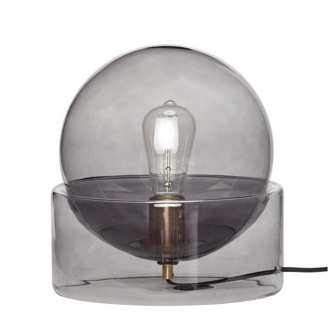 Tafellamp, glas, rook