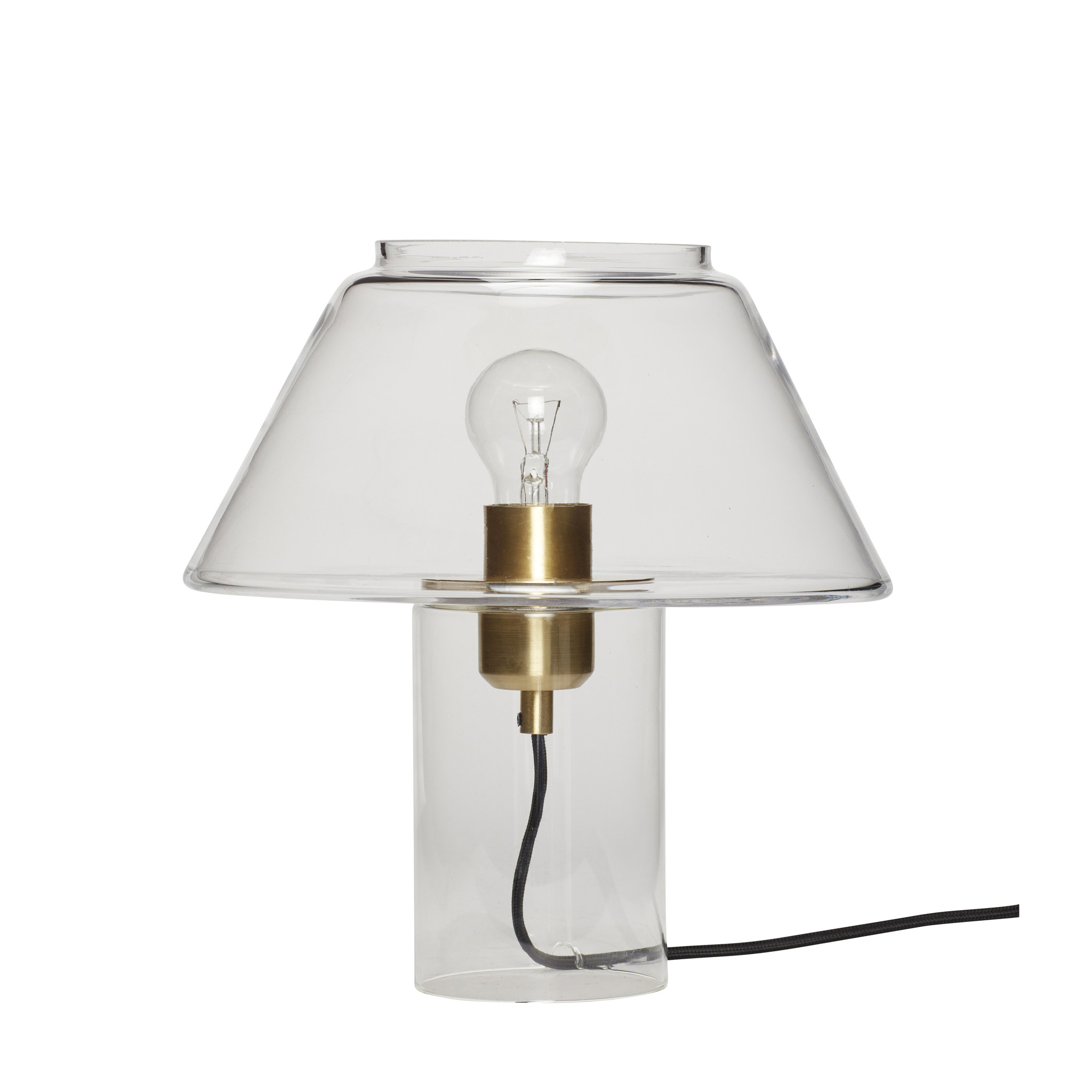 Hubsch Tafellamp, glas, messing / helder