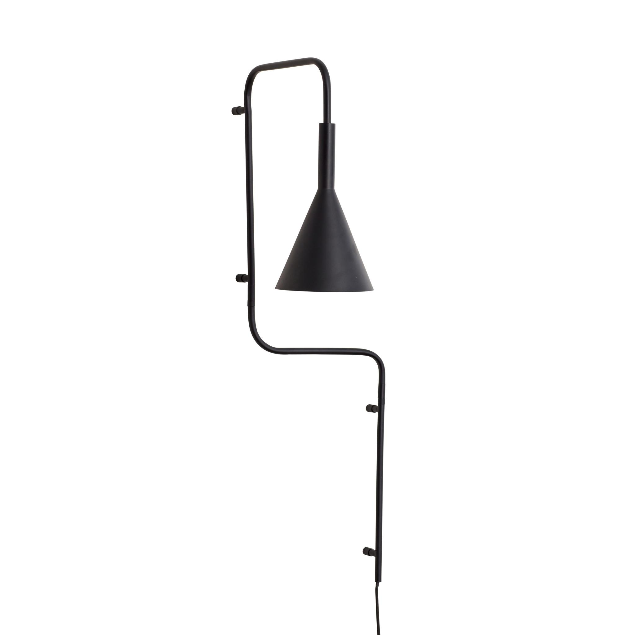 Hubsch Wandlamp, zwart-990927-5712772071328