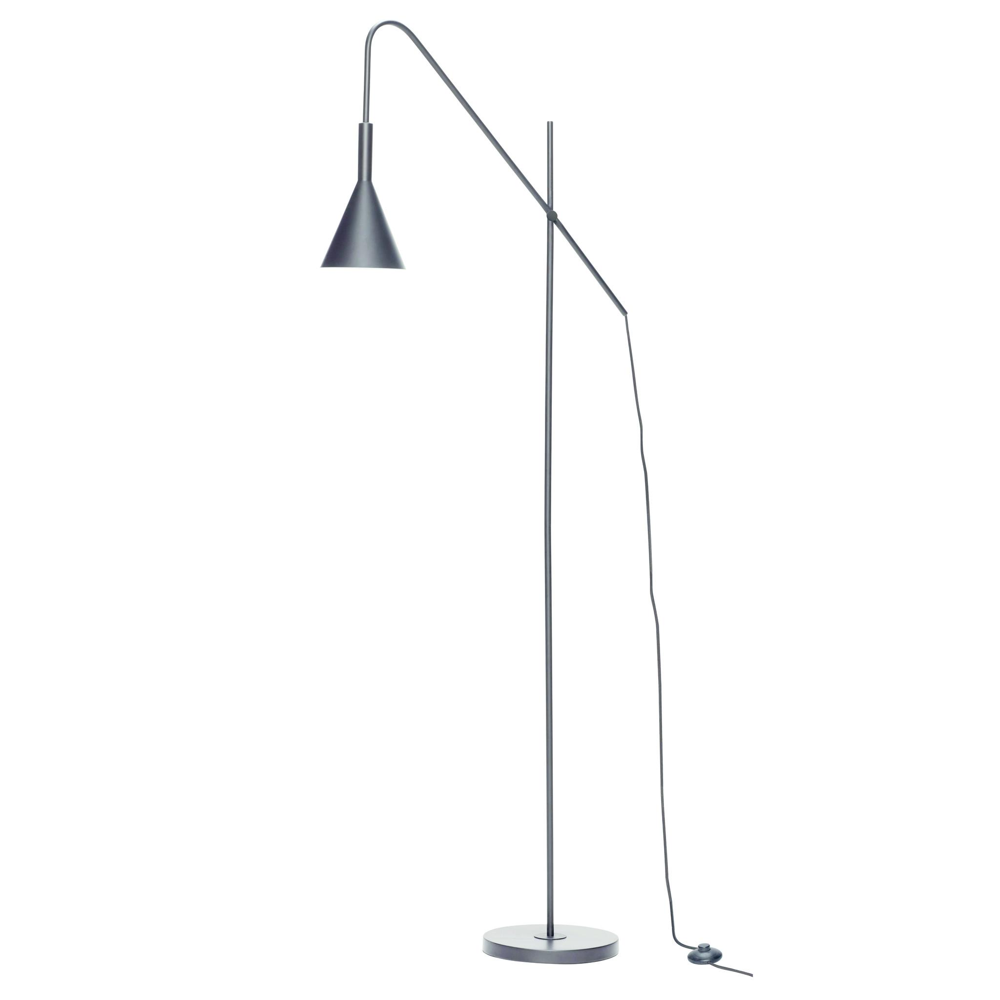 Hubsch Staande lamp, metaal, zwart-990928-5712772071335