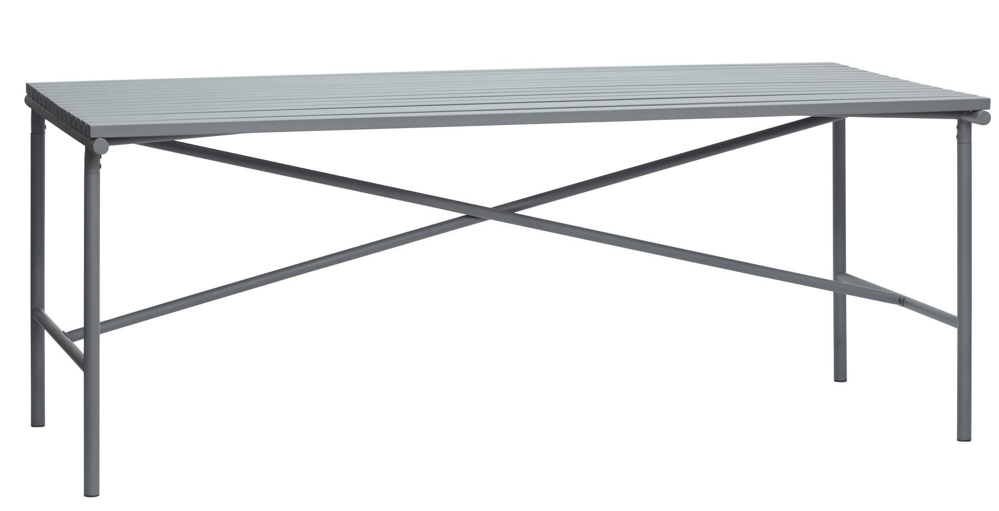 Hubsch Tafel, metaal, grijs-990943-5712772071786