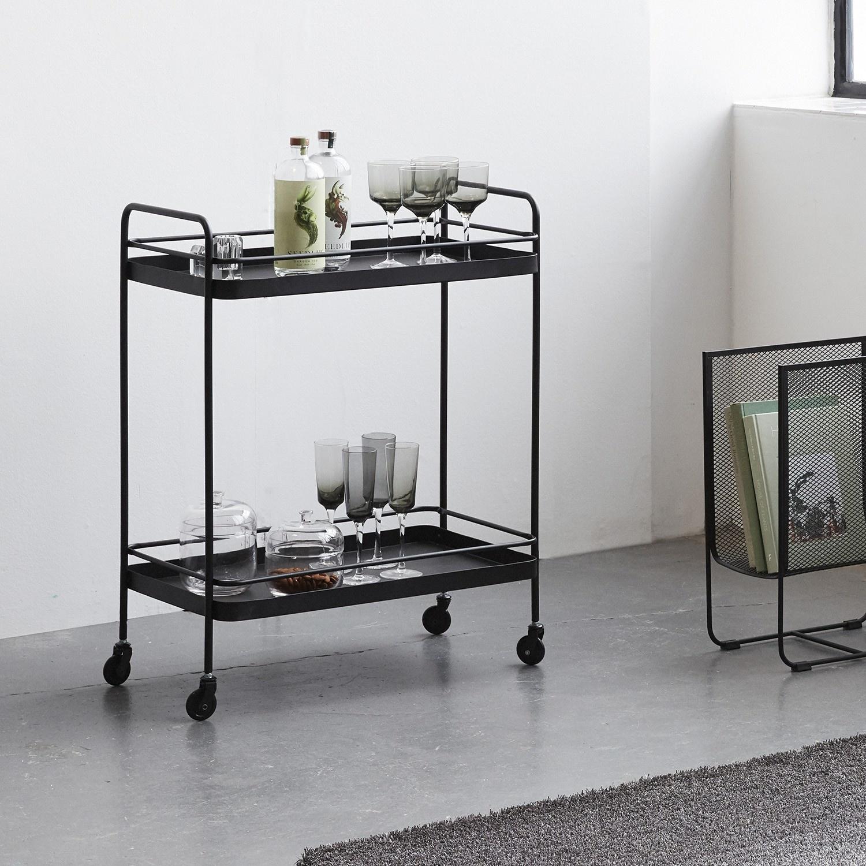 Hubsch Trolley zwart metaal - 020705 - 62 x 34 x h79 cm