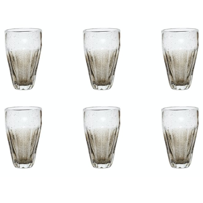 Longdrinkglas grijs - 36 cl - 6 stuks