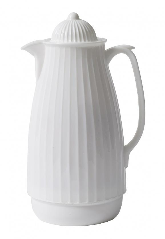 Nordal thermoskan wit kunststof/glas
