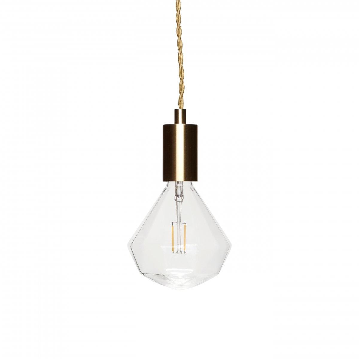 Hubsch Goudkleurige 1-lamp fitting hanglamp-890404-5712772059562