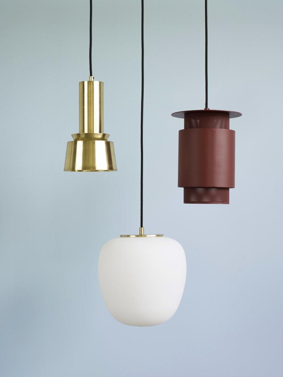 Hubsch Lamp, metaal / gaas, rood