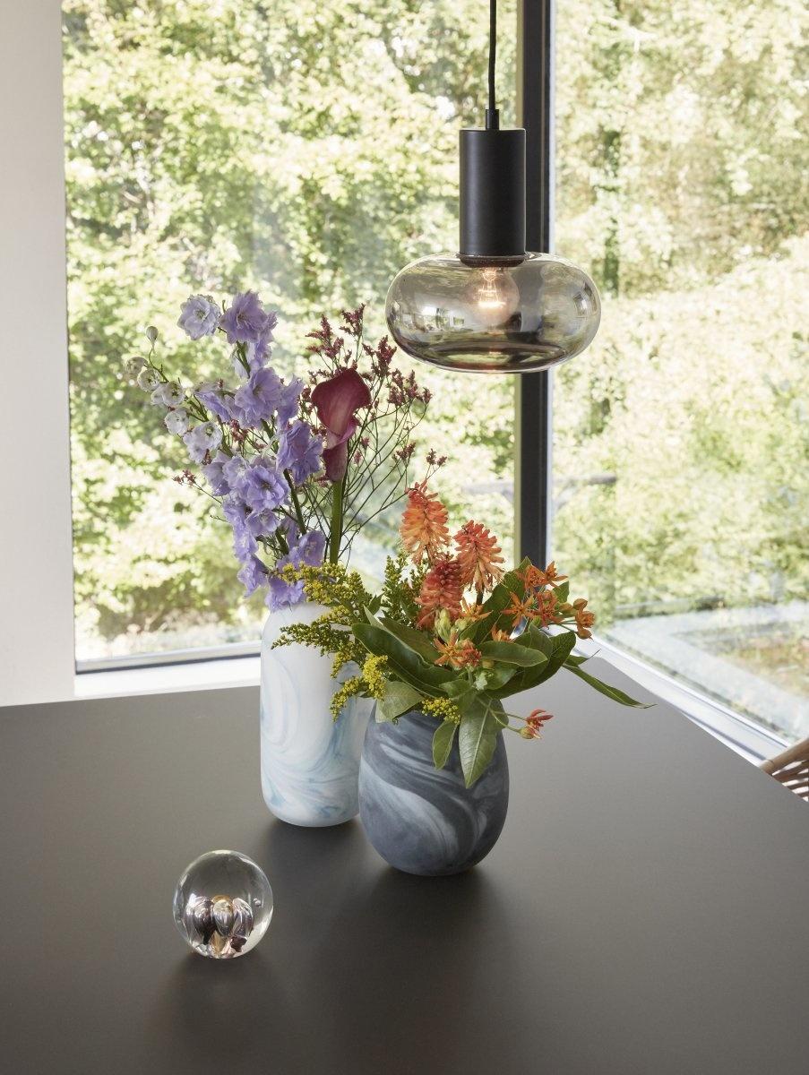 Hubsch Hanglamp Glas Zwart Metaal-991112-
