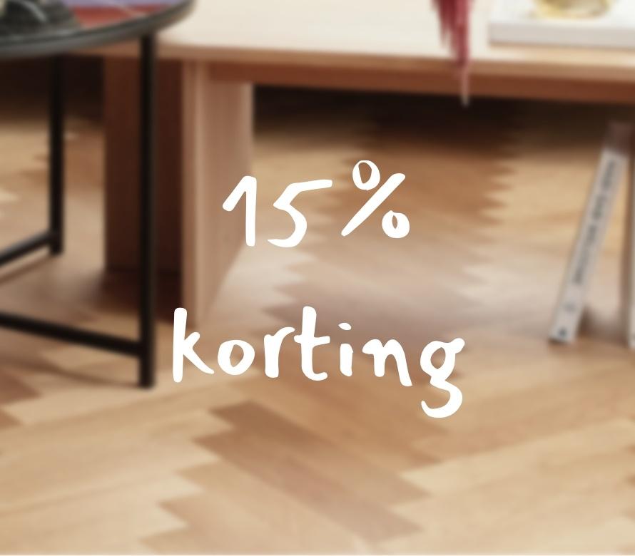 15% korting