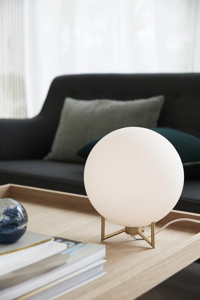 Hubsch Tafellamp, metaal / glas, wit / messing-890506-5712772061923