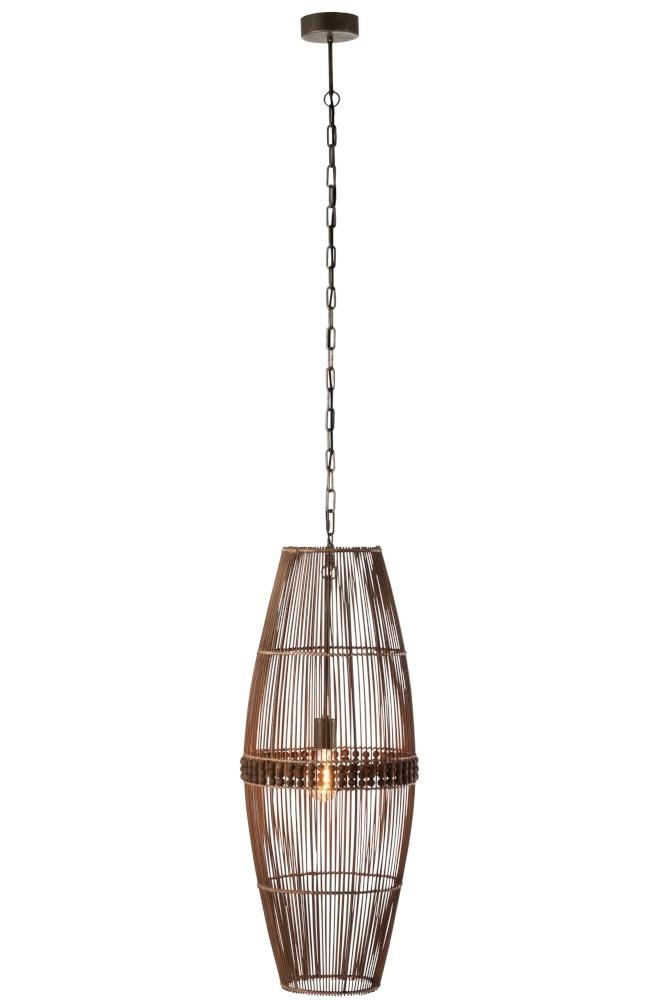 J-line Lamp Hanging Ona Bamboe Naturel