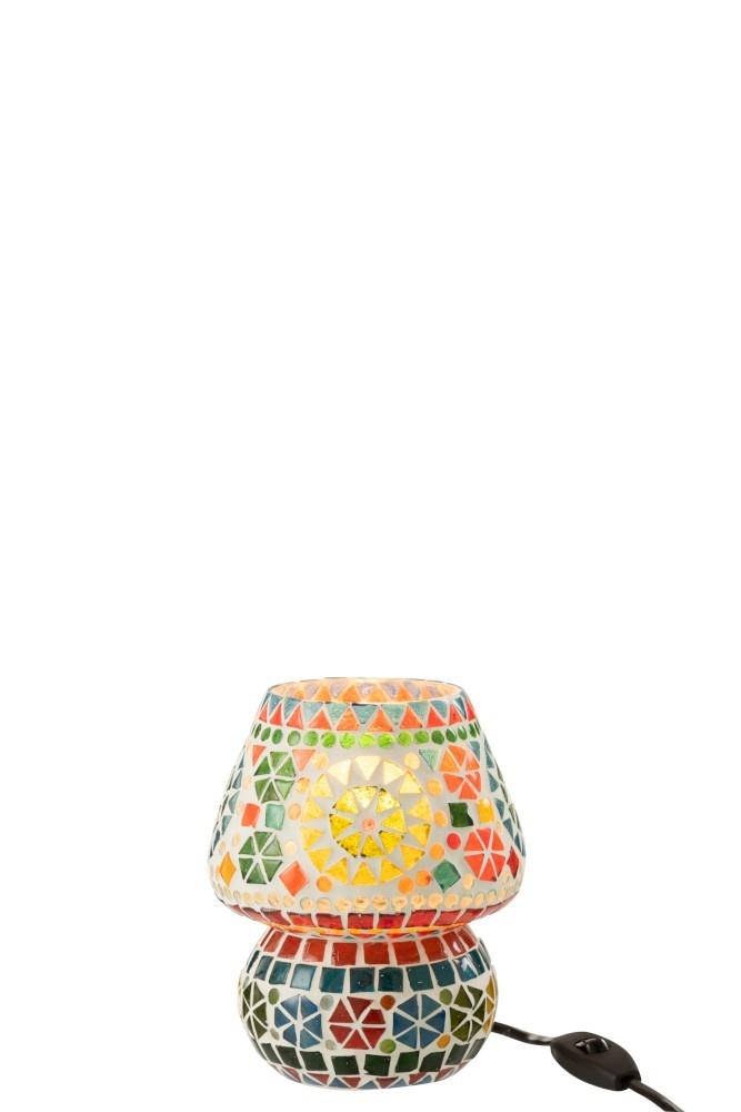 J-line Tafellamp Eki Mozaiek Glas Mix Small-1666-5400924016661