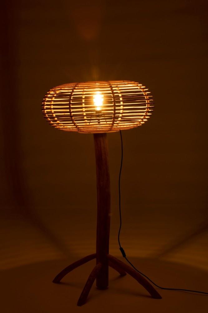 J-line Lamp Staand Miye Rotan Teak Hout Naturel Small