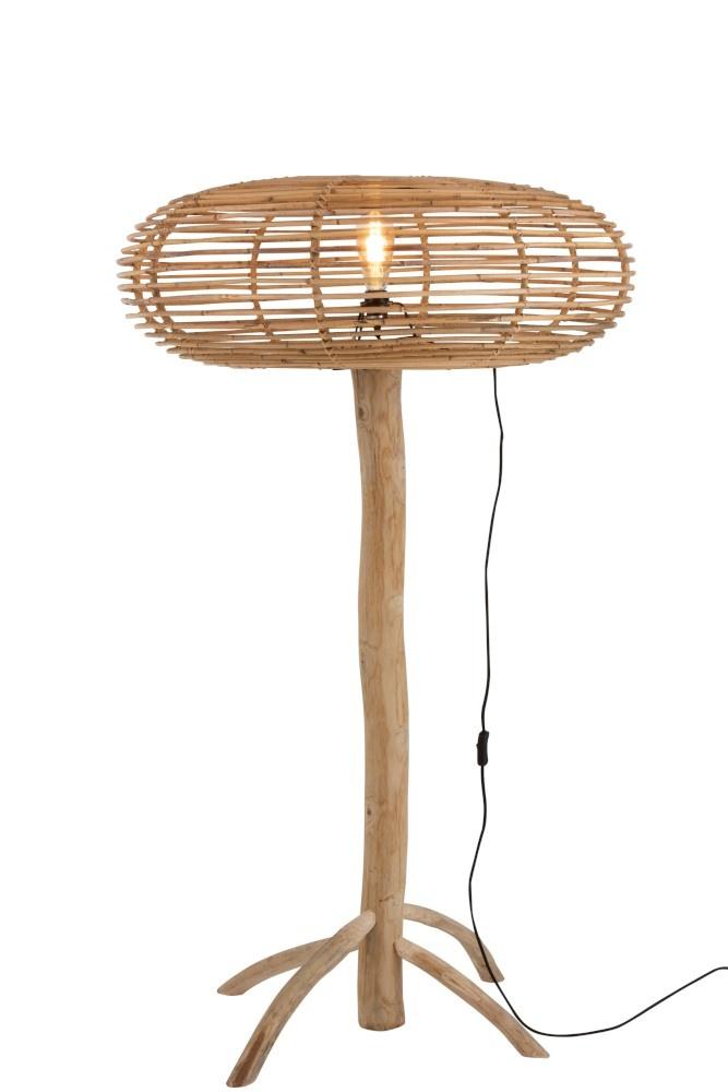 J-line Lamp Staand Miye Rotan Teak Hout Naturel Large