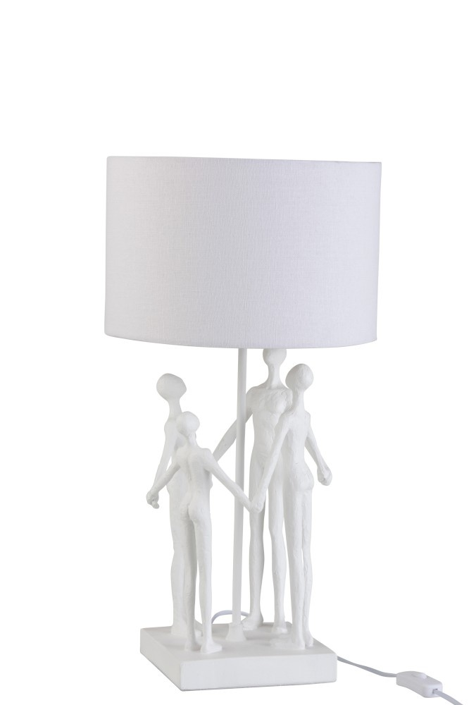 J-line Lamp Figuren  Vierdelig Poly Wit