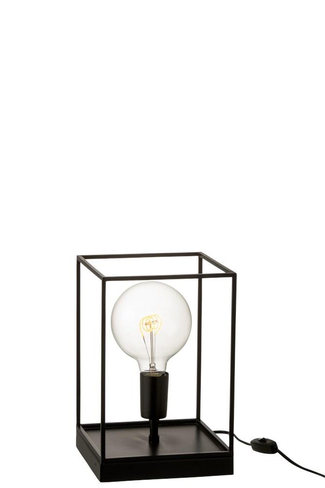 J-line Lamp 1 Lamp Rechthoekig Frame Metaal Zwart Small