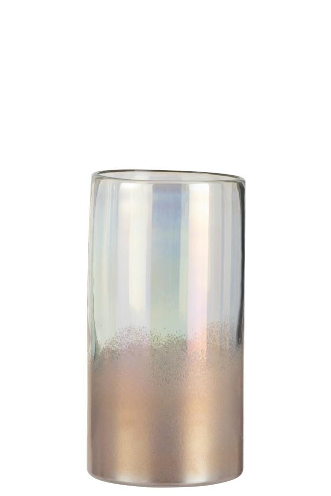J-line Vaas Rond Hoog Glas Roze Medium-3614-5400924036140