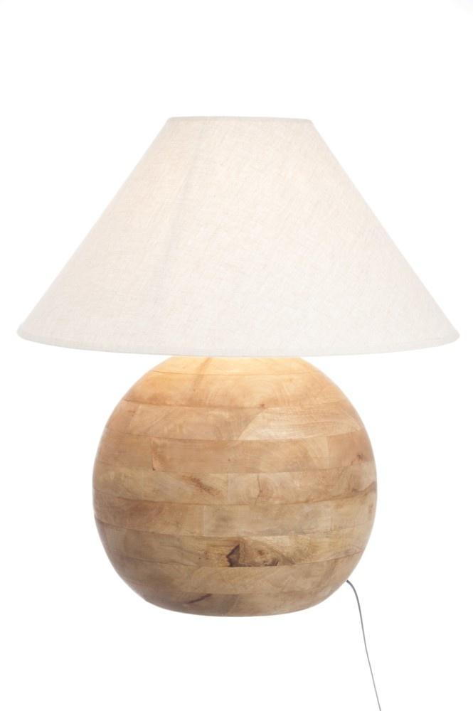J-line Lampv Bol Hout Naturel L