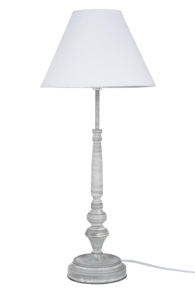 J-line Lampvoet+Kap Klassiek Smeedwerk Grijs/Wit 25X25X57Cm-52921-5415203529213