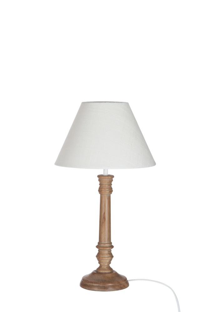 J-line Lampv+K Klass Ht Nat/Wit S 11X22X41Cm-56980-5415203569806