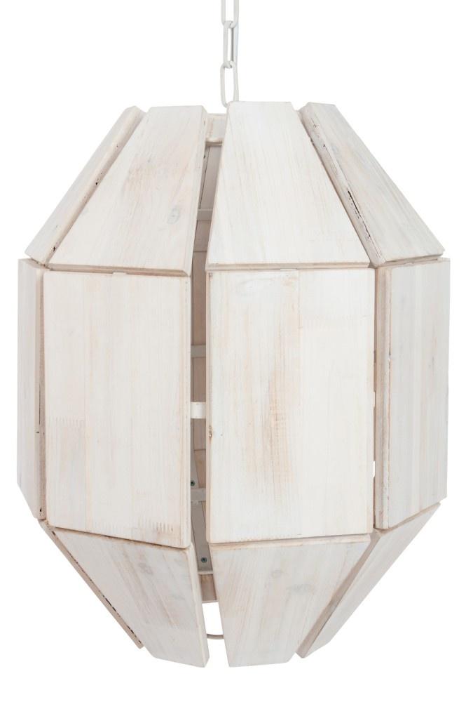 J-line Lamp Hang 8 Zijden Hout/Metaal White Wash 43X43X156Cm-58492-5415203584922