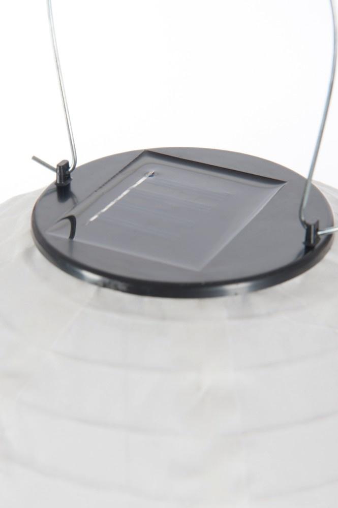 J-line Lampion Led Zonne-Energie Wit S 25X25X25Cm