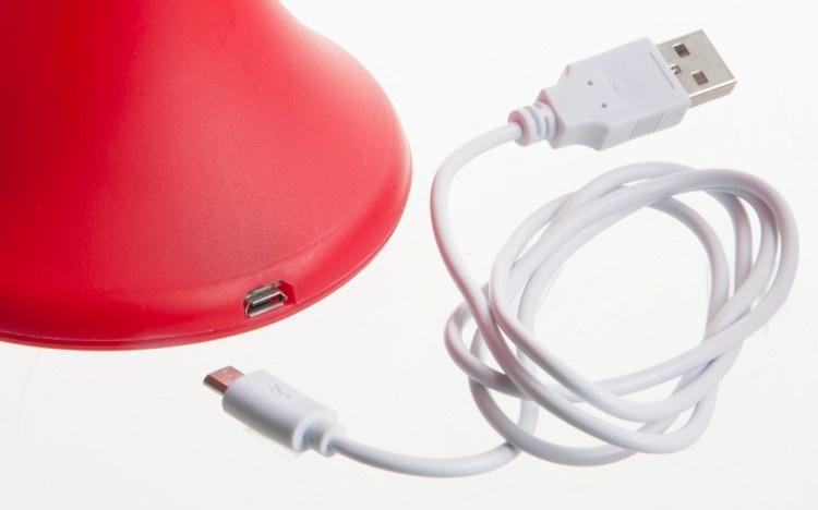 J-line Tafellamp Usb Oplaadbaar Kunststof Rood 12X19Cm