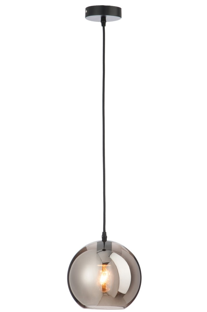 J-line Lamp Bol Glas Zilver Small-75203-5415203752031