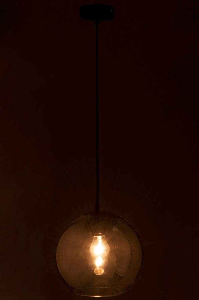 J-line Lamp Bol Glas Zilver Medium-75204-5415203752048