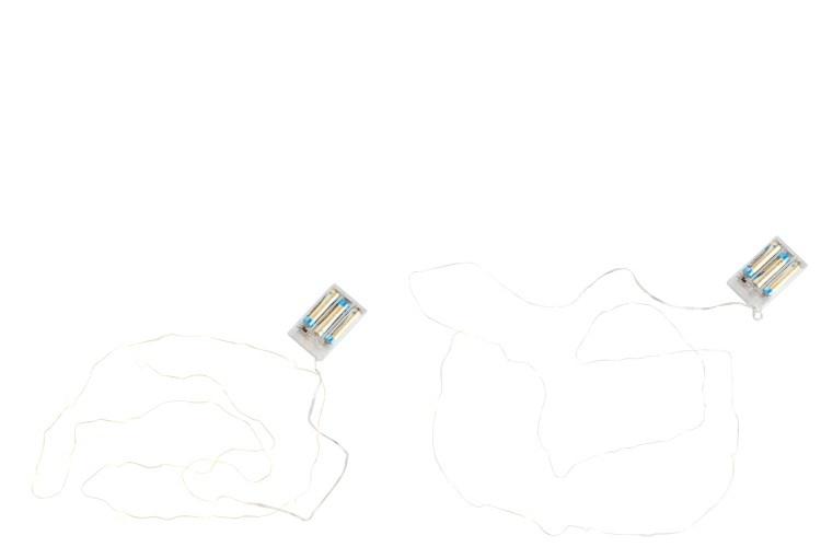 J-line Kerstverlichting Draad Goud/Zilver 20Led Warm Wit Batterij Assortiment Van 2-75967-5415203759672