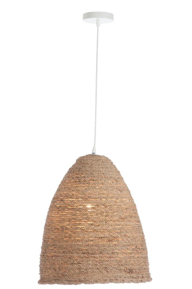 J-line Hanglamp Ovaal Touw Natural-76378-5415203763785
