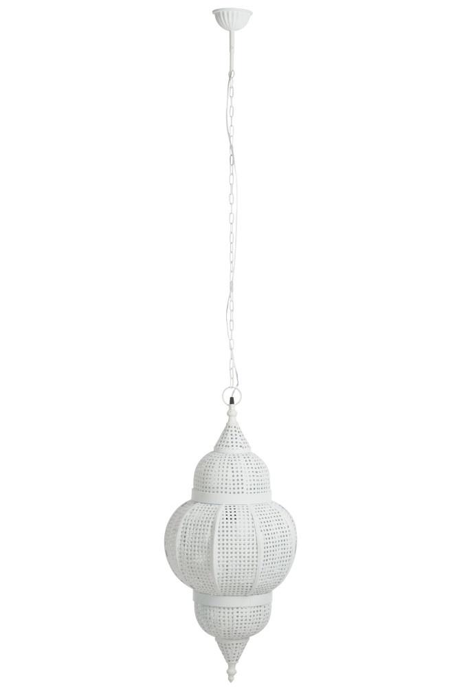 J-line Lamp Oosters Metaal Antiek Wit-76509-5415203765093