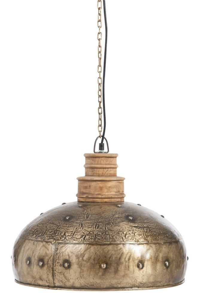 J-line Hanglamp Rond Antiek Metaal Goud-77963-5415203779632