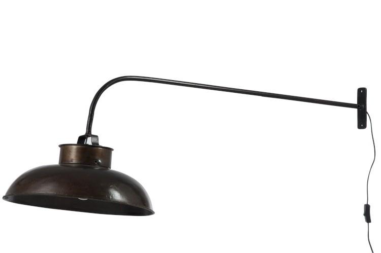 J-line Muurlamp Lounge Metaal Zwart