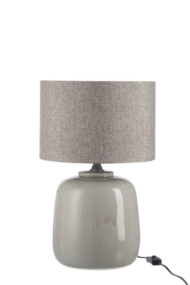 J-line Lampvoet+Kap Keramiek Greige