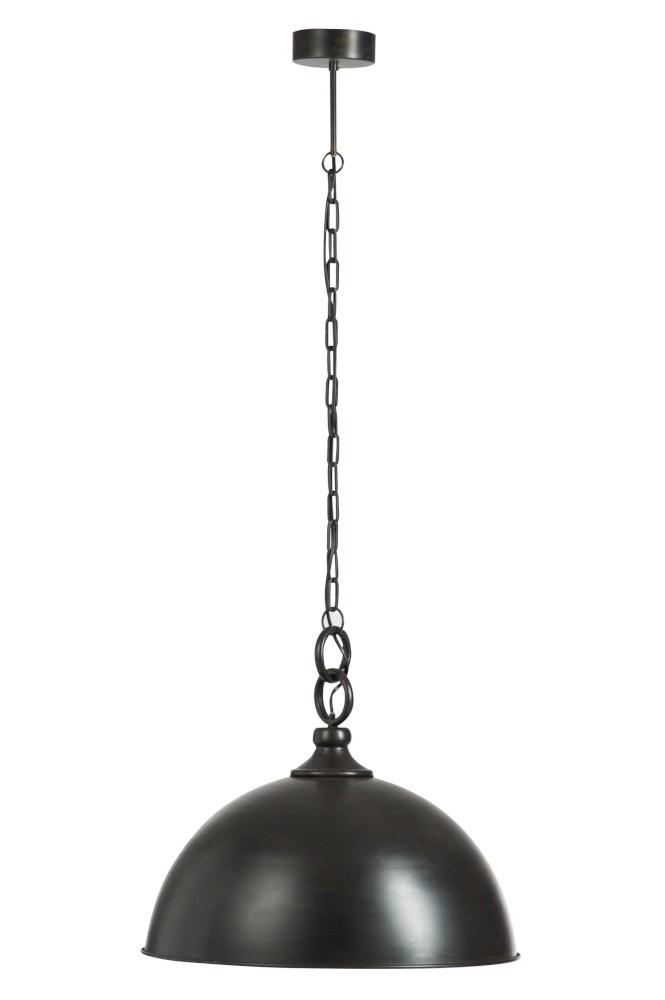 J-line Hanglamp Rond Metaal Zwart Medium
