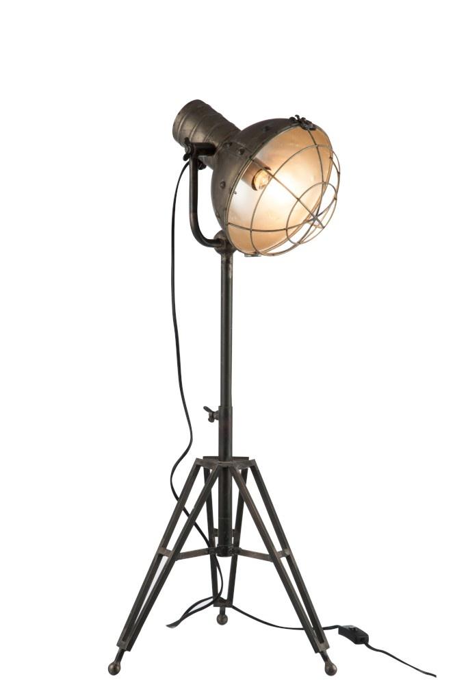 J-line Staanlamp Rond Metaal Grijs