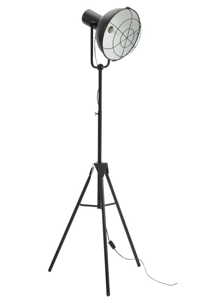 J-line Staanlamp Rond Metaal Zwart-78454-5415203784544