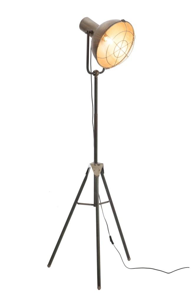 J-line Staanlamp Rond Metaal Grijs-78466-5415203784667