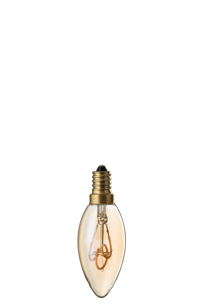 J-line Ledlamp Amber C35 3 Loops E14