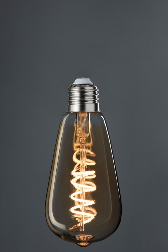 J-line Ledlamp St 64 Amber Spiral E27-78824-5415203788245