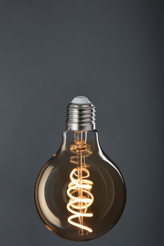 J-line Ledlamp G80 Amber Spiral E27